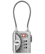 Yale YTP3 Soft Shackle Combi Padlock - TSA Approved