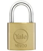 Thumbnail of Yale YE1 Essential 20mm Brass Padlock