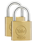 Thumbnail of Yale YE1 Essential 20mm Brass Padlock (4 pack)