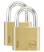 Yale YE1 Essential 40mm Brass Padlock (4 pack)