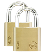 Yale YE1 Essential 40mm Brass Padlock (4 pack)