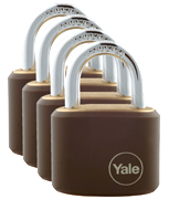 Thumbnail of Yale Y110J Handy 15mm Brass Padlock (4 pack)
