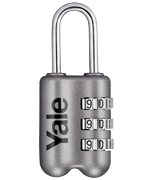 Yale YP2 Grey Combination Travel Padlock