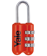 Yale YP2 Red Combination Travel Padlock