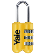 Yale YP2 Yellow Combination Travel Padlock