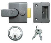 Asec AS15 - Deadlocking Night Latch (40mm, Dark Grey, Satin Chrome)