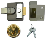 Asec AS15 - Deadlocking Night Latch (40mm, Polished Brass)