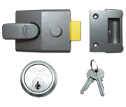 Thumbnail of Asec AS19 - Deadlocking Night Latch (60mm, Dark Grey, Satin Chrome)