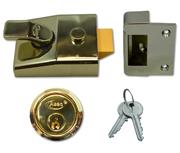 Asec AS19 - Deadlocking Night Latch (60mm, Polished Brass)