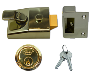 Asec AS19 - Deadlocking Night Latch (60mm, Polished Brass)