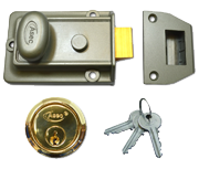 Asec Traditional Night Latch (60mm, Green, Polished Brass)