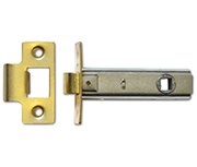 Asec Tubular Latch (76mm, Polished Brass)
