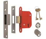 ERA 361 Fortress - BS 5 Lever Deadlock (79mm, Satin Chrome)