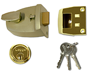 Legge 707 - Deadlocking Night Latch (60mm, Polished Brass)