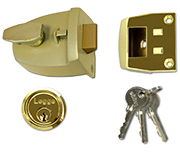 Legge 727 - Deadlocking Night Latch (44mm, Polished Brass)