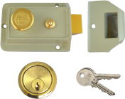 Union 1022 - Standard Night Latch (60mm, Champagne, Polished Brass)