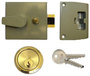 Thumbnail of Union 1037 - Auto Deadlocking Night Latch (40mm, Champagne, Polished Brass)