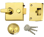 Union 1098 - Auto Deadlocking Night Latch (60mm, Polished Brass)