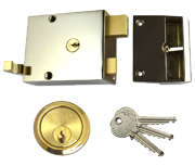 Union 1332 - Double Throw Drawback Night Latch (60mm, Polished Brass)