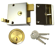 Union 1334 - Double Throw Drawback Night Latch (50mm, Polished Brass)