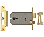 Union 2077 - 3 Lever Horizontal Sashlock (149mm, Polished Brass)