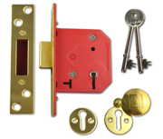 Thumbnail of Union 2101 - 5 Lever Deadlock (65mm, Polished Brass, Keyed Alike)