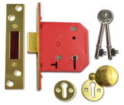 Thumbnail of Union 2101 - 5 Lever Deadlock (77mm, Polished Brass, Keyed Alike)