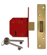 Thumbnail of Union 2134 - 5 Lever Deadlock (67mm, Polished Brass, Keyed Alike)