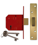 Thumbnail of Union 2134 - 5 Lever Deadlock (79mm, Polished Brass, Keyed Alike)