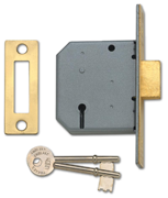 Thumbnail of Union 2177 - 3 Lever Deadlock (65mm) - Keyed Alike