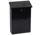 Villa Black - Steel Post Box