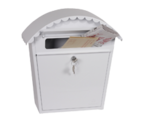 Clasico White - Steel Post Box