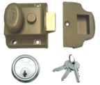 Asec Traditional Night Latch (40mm, Green, Satin Chrome)
