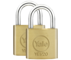 Yale YE1 Essential 20mm Brass Padlock (2 pack)