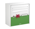 Thumbnail of Wales Design - Steel Post Box