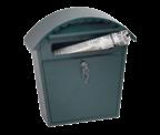Thumbnail of Clasico Green - Steel Post Box