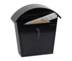 Clasico Black - Steel Post Box