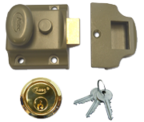 Thumbnail of Asec Traditional Night Latch (40mm, Green, Polished Brass)